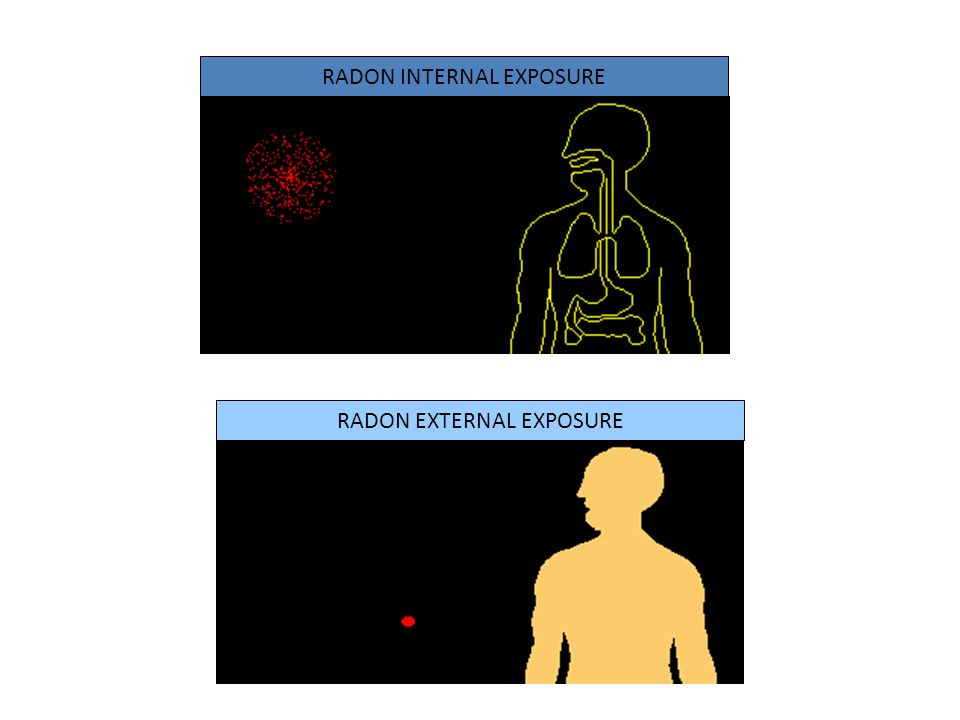 RADON INTERNAL EXPOSURE RADON EXTERNAL EXPOSURE