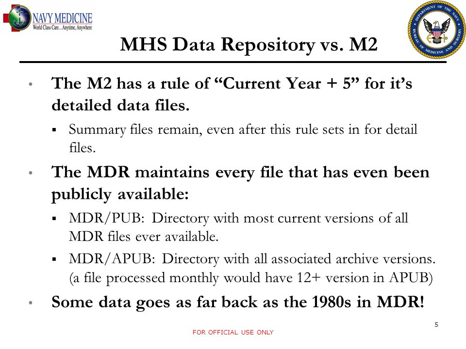 CDR Data Retention Project Short Term Project: Uses data feeds established for CDM Available until 2014 (likely to be extended), or until other plans are made.