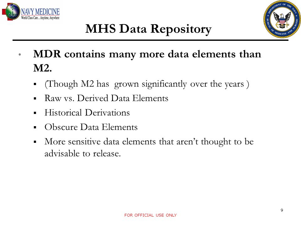 Data Files in the MDR Today Designated Provider Claims: Record Definition: Claims associated with the Designated Provider Program Content: Medical and Pharmacy Claims; Person Identifiers, Types of Care, Diagnosis, Payment Amounts, Dates, etc.