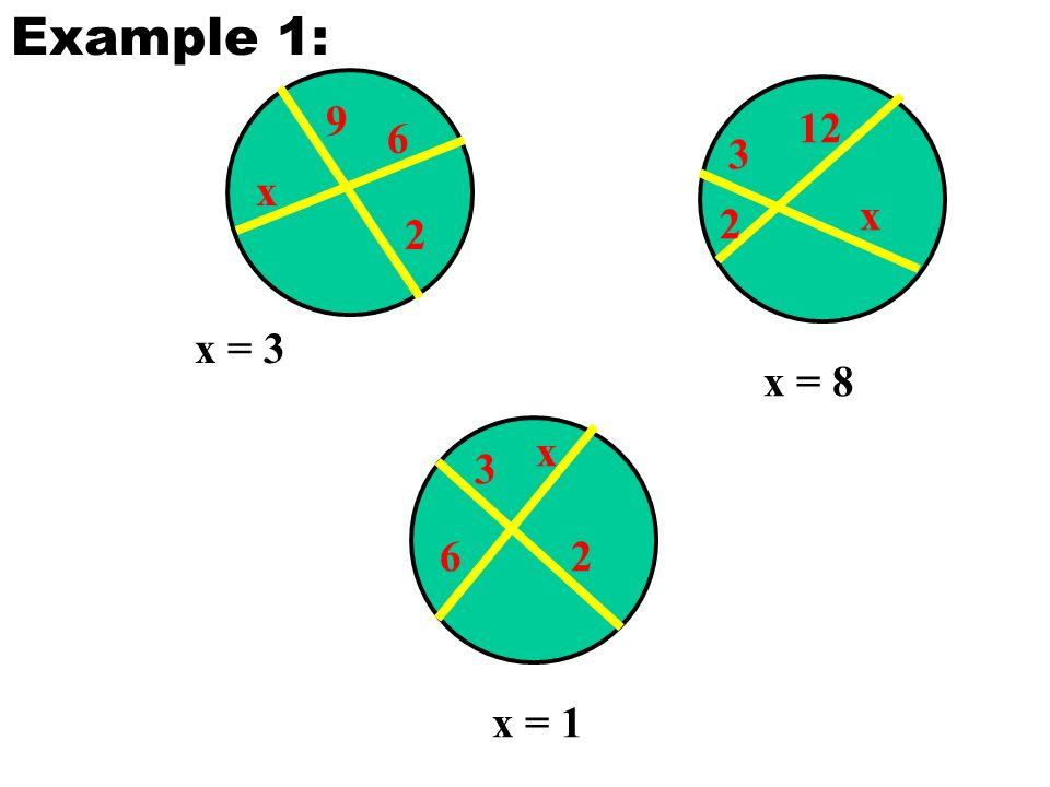 9 2 6 x x = 3 3 2 12 x x = 8 3 26 x x = 1 Example 1: