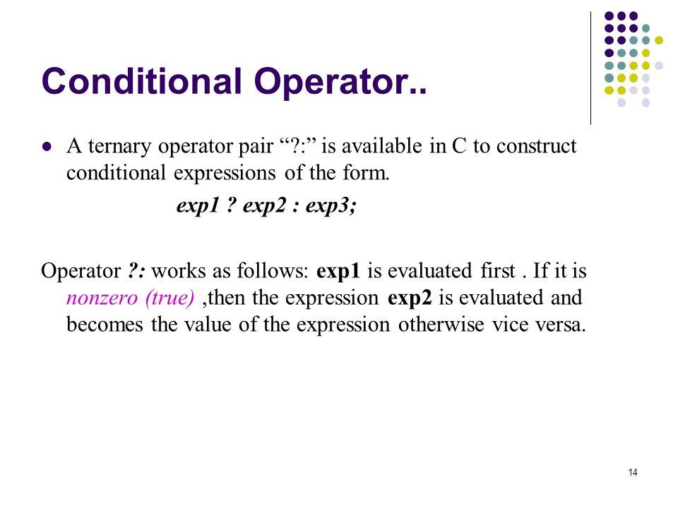 14 Conditional Operator..