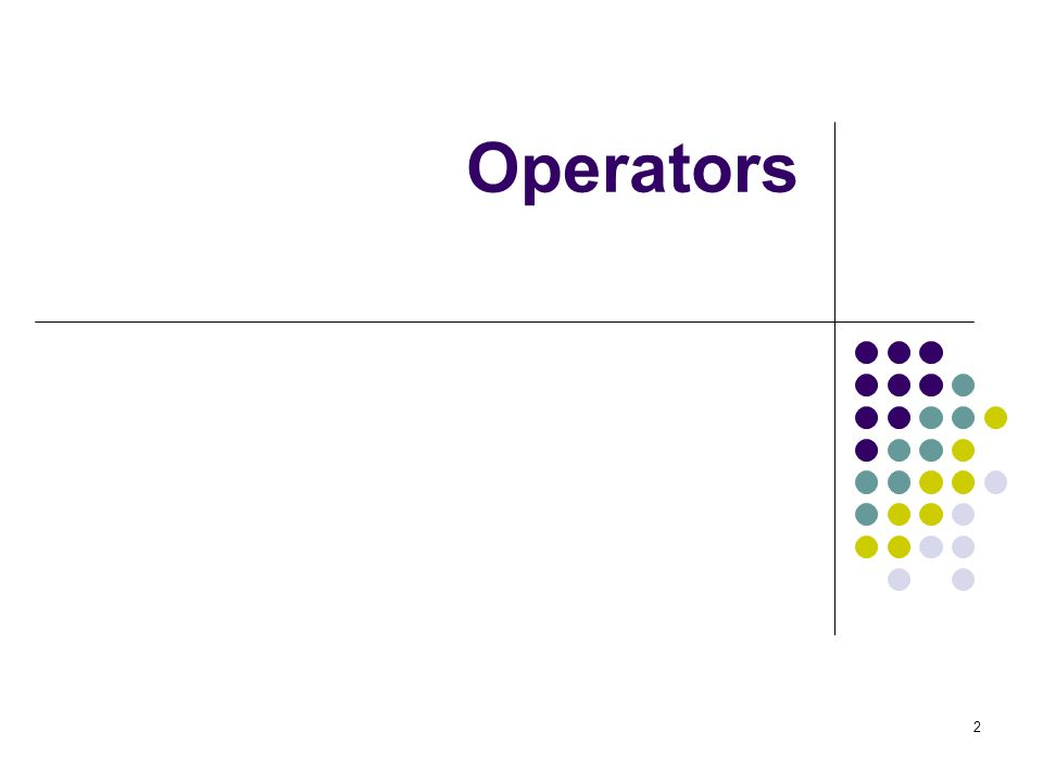 3 Operators in C An operator is a symbol that tells the computer to perform certain mathematical or logical manipulation.