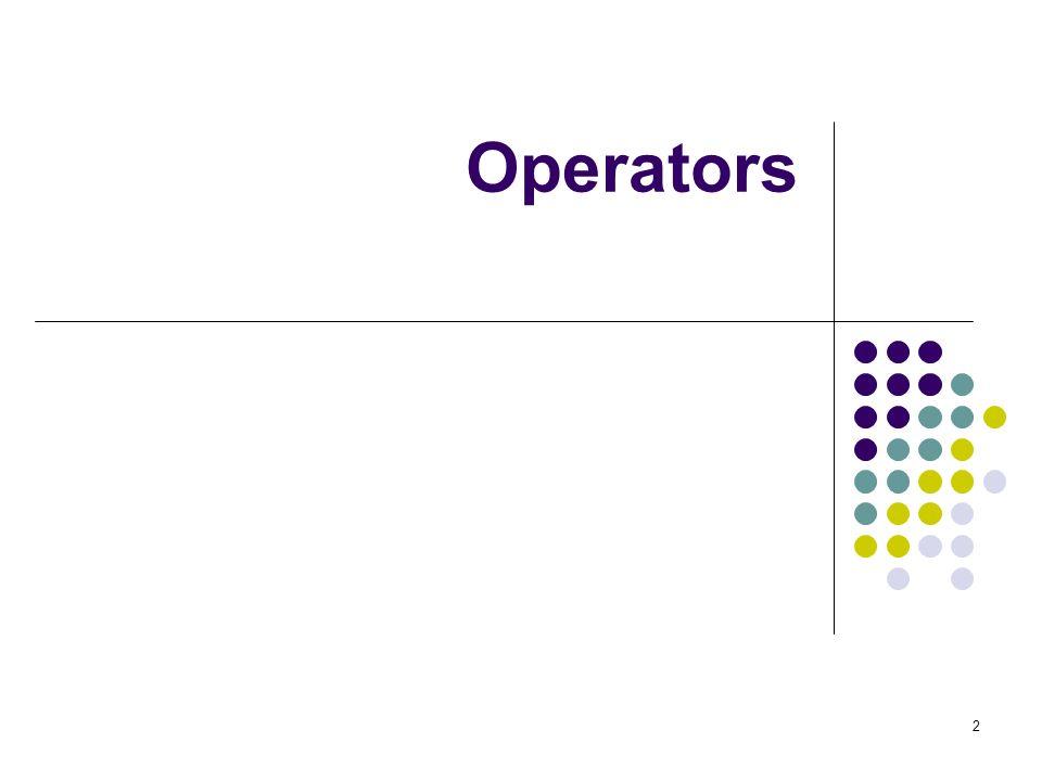 2 Operators