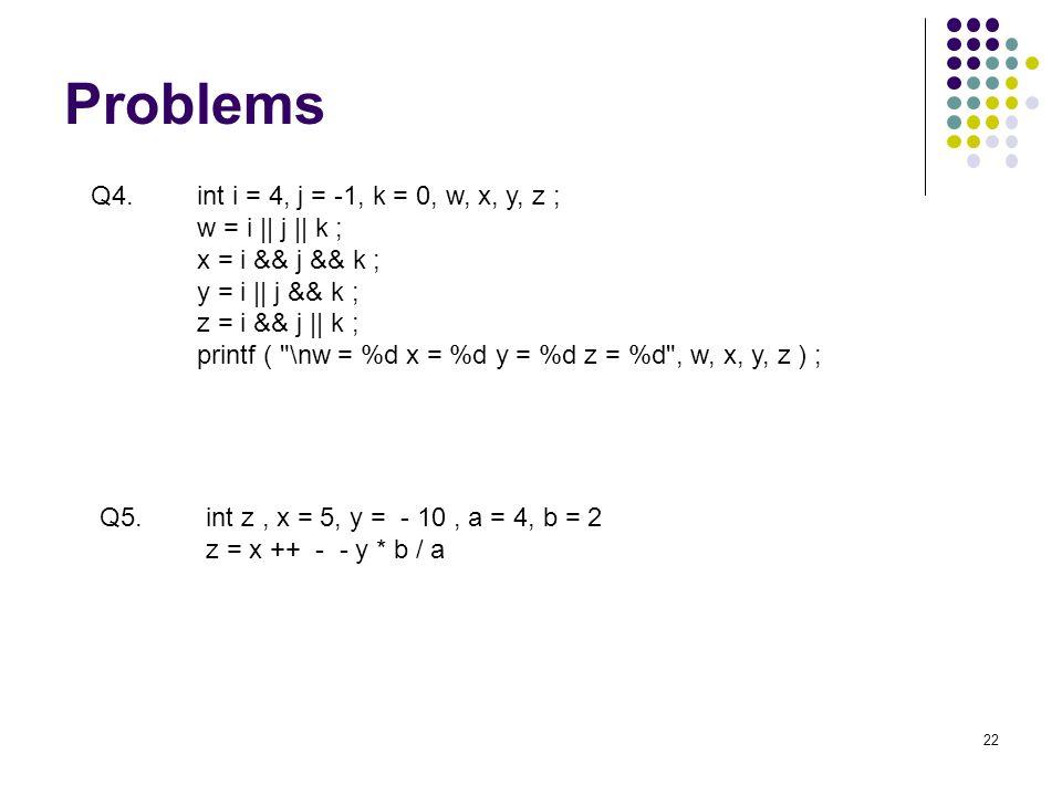 Problems 22 Q5.