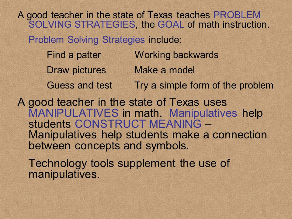 Students need to be provided activities to ASSESS their own understanding of math operations.