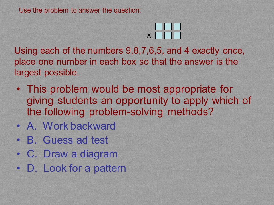 Steven, a fourth grade student, used a calculator to solve the previous word problem.