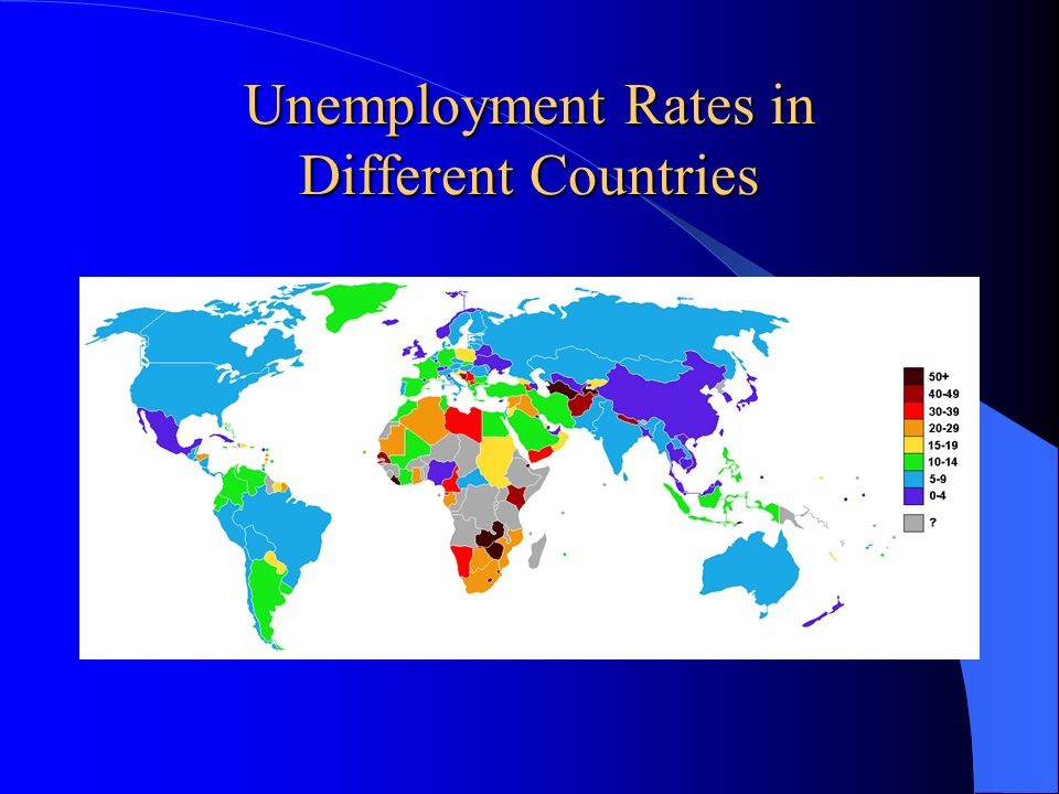 Unemployment Rates in Different Countries