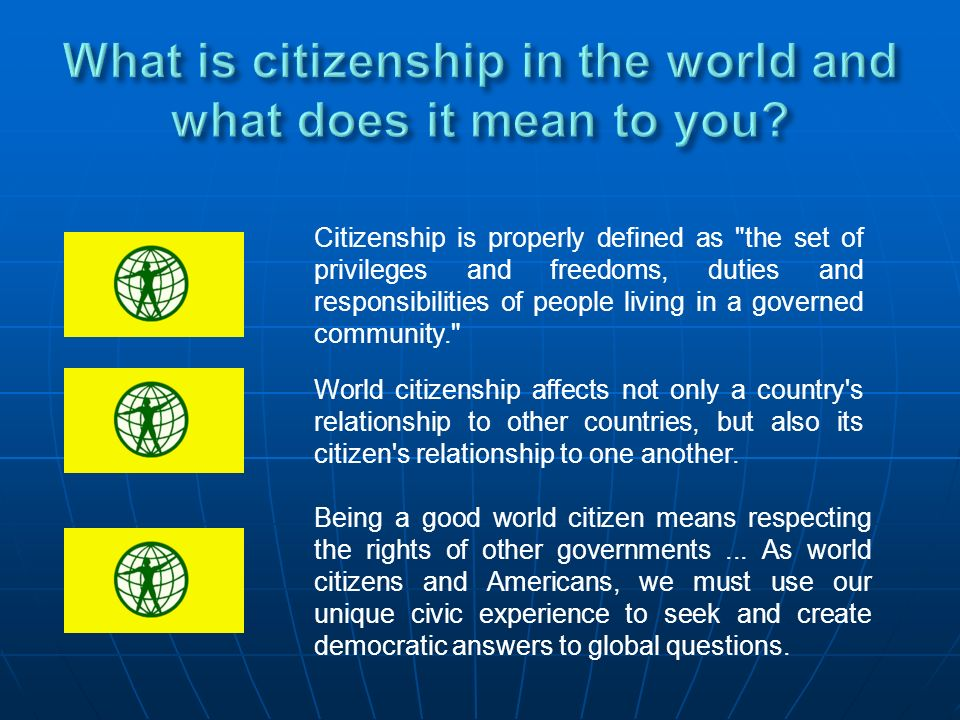 Citizenship is properly defined as