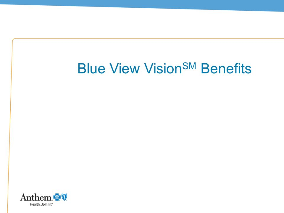 16 Blue View Vision SM Benefits