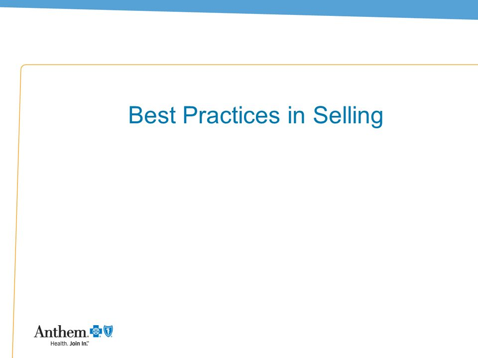 39 Best Practices in Selling