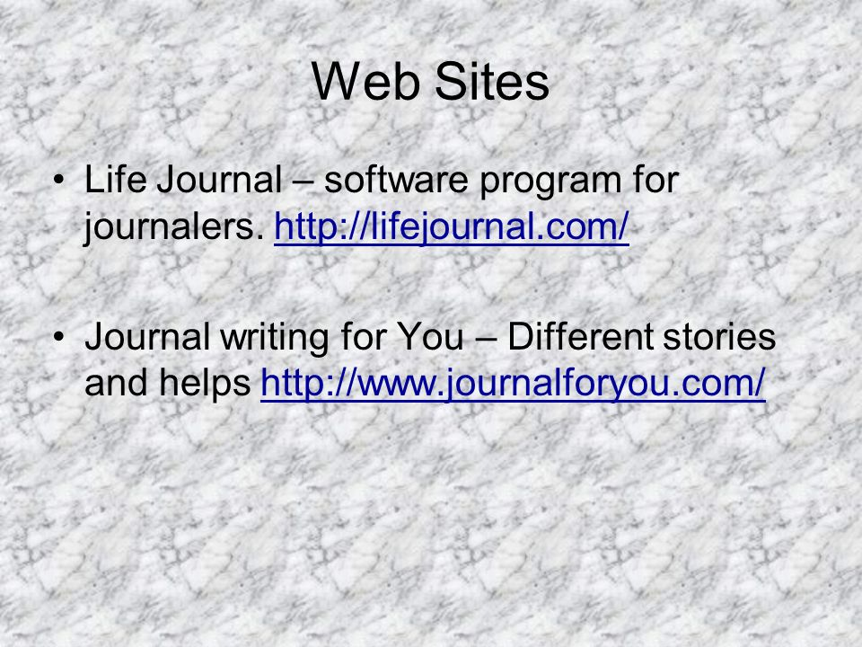 Web Sites Life Journal – software program for journalers.