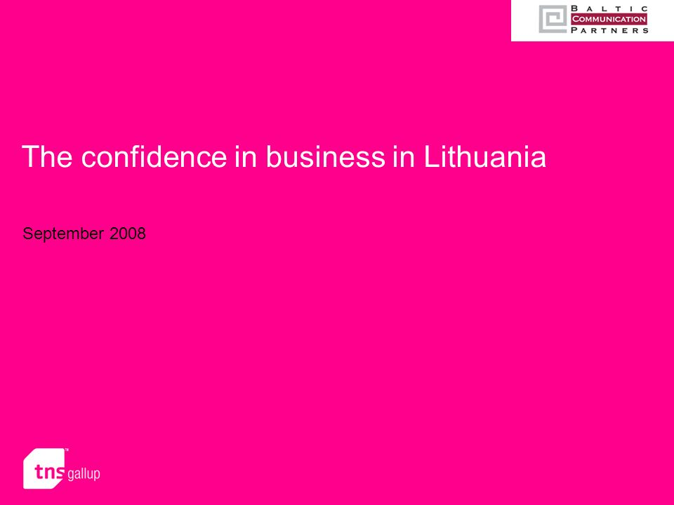 The confidence in business in Lithuania September 2008