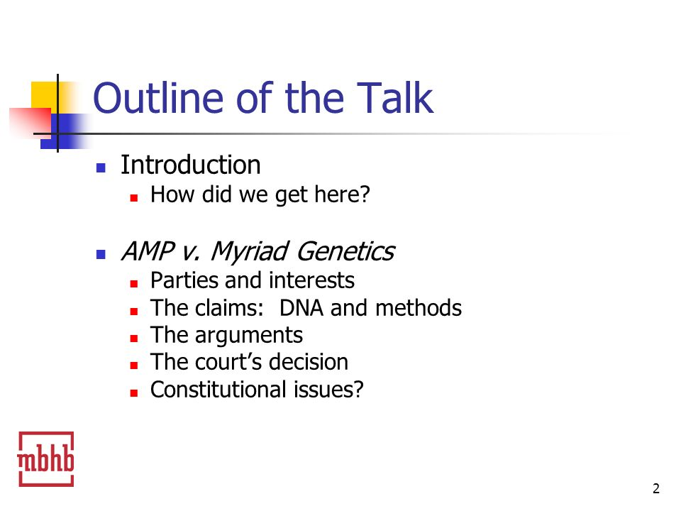 3 Outline of the Talk Labcorp v.