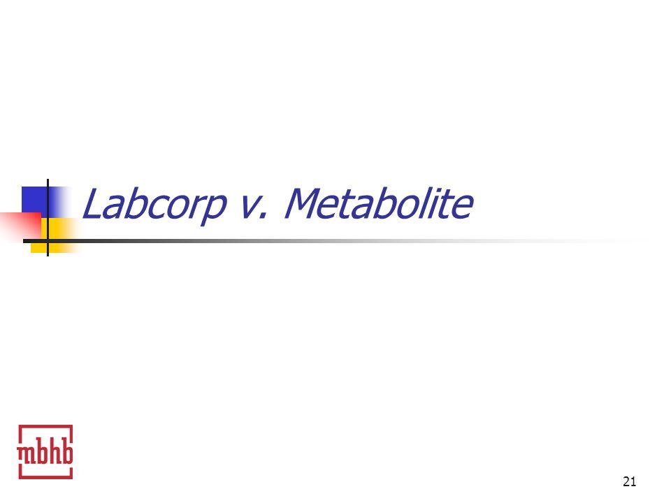21 Labcorp v. Metabolite