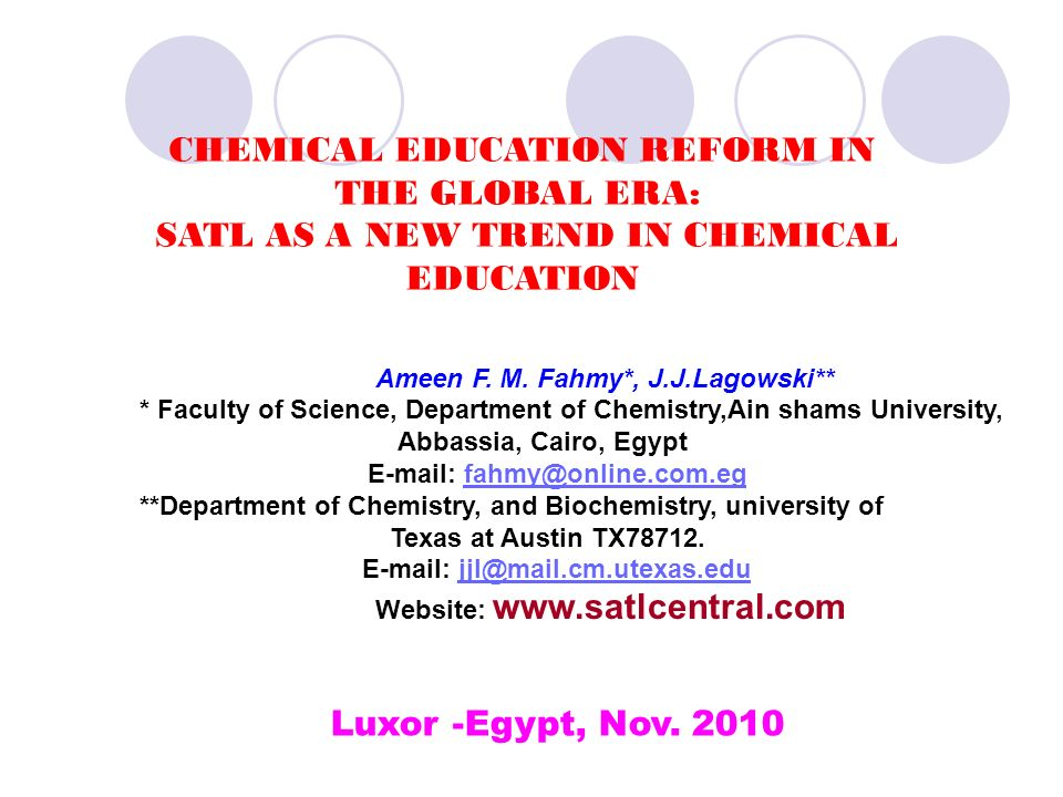 SATLC-Research Group Prof.Dr. Hashem A. F. (Egypt) Prof.