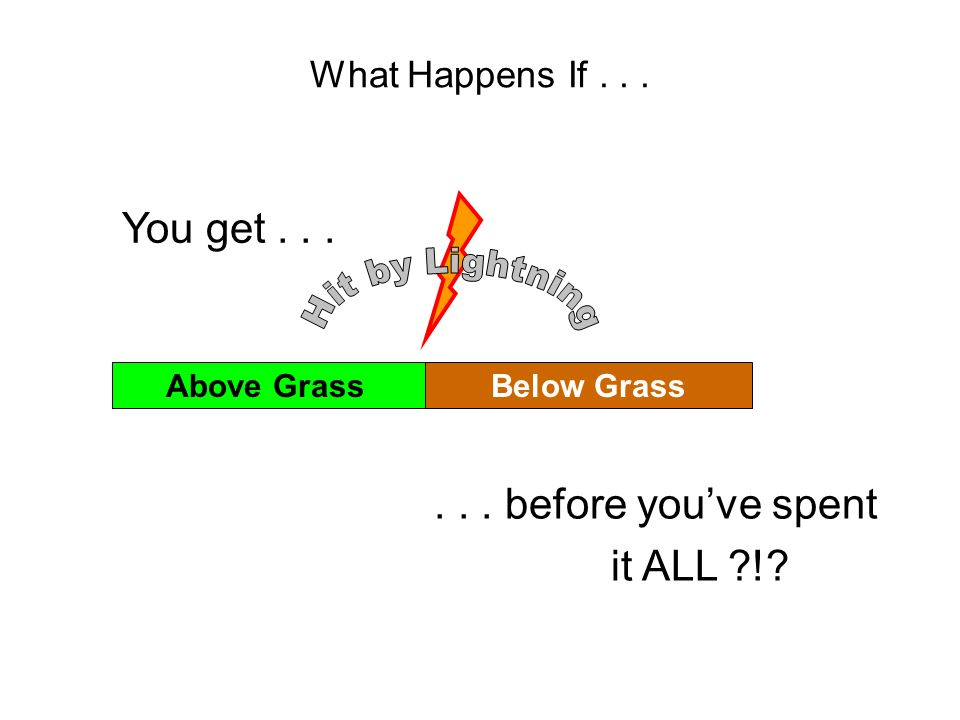 Above GrassBelow Grass What Happens If... You get...... before youve spent it ALL ?!?
