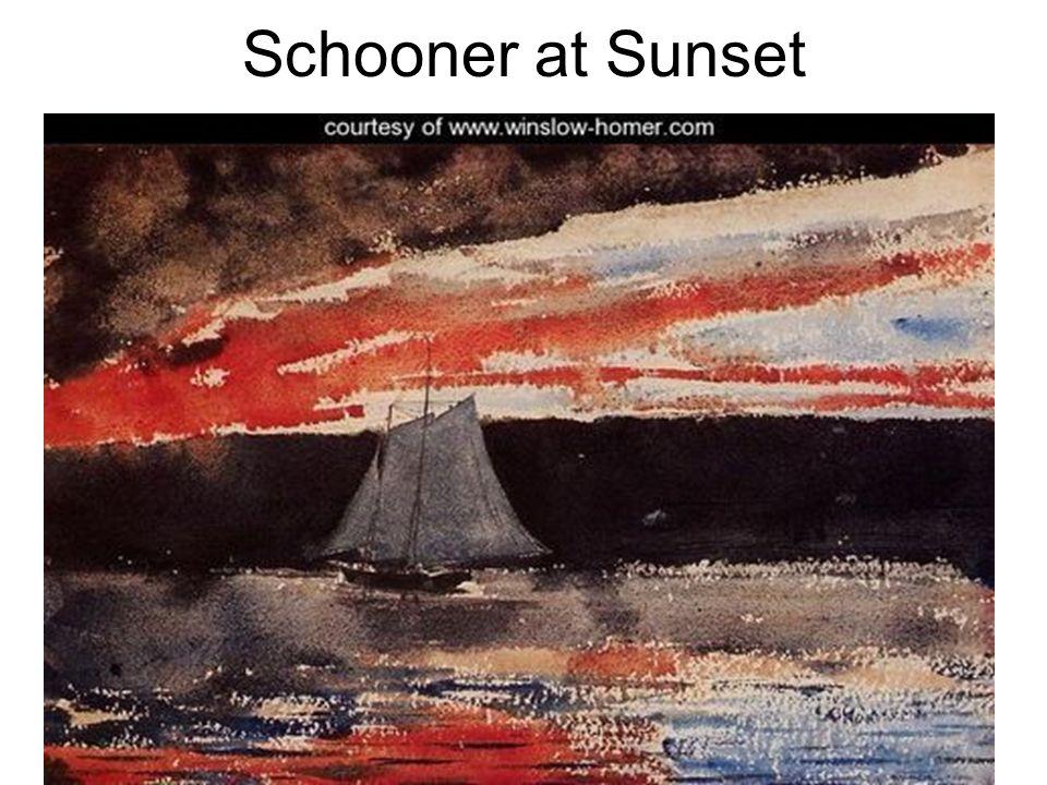 Schooner at Sunset