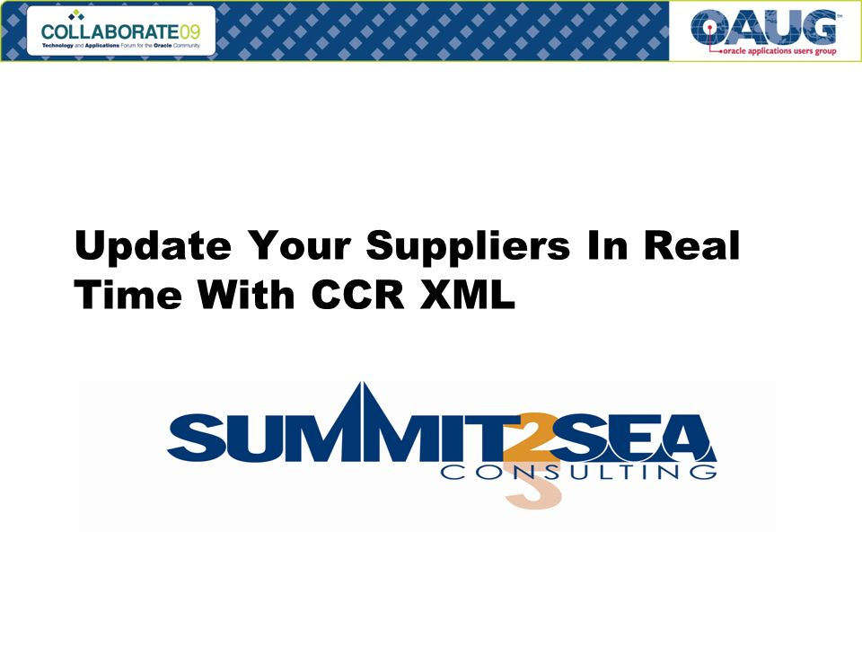 Update Your Suppliers In Real Time With CCR XML