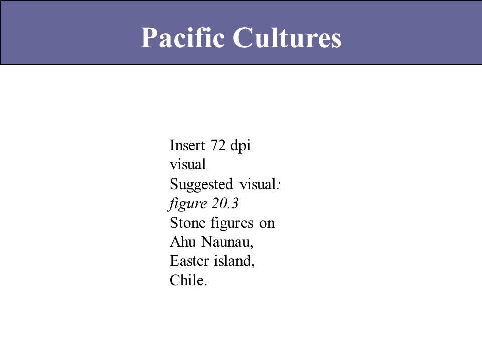 Insert 72 dpi visual Suggested visual: figure 20.3 Stone figures on Ahu Naunau, Easter island, Chile.