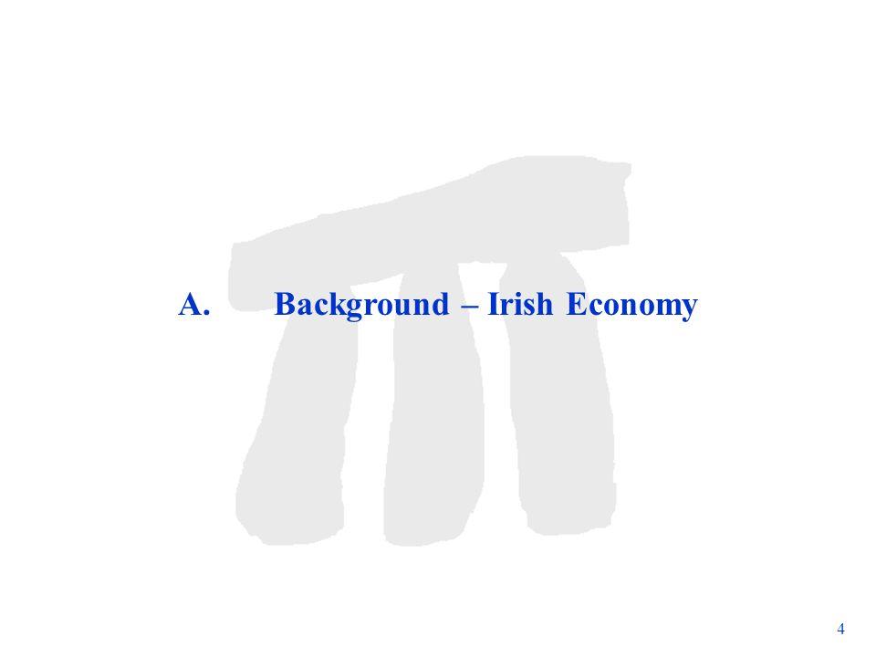 Subject to change 4 A. Background – Irish Economy
