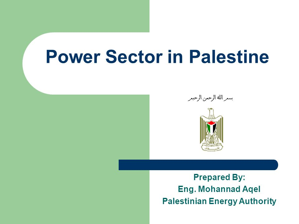 Past The power sector in Palestine has been severely neglected.