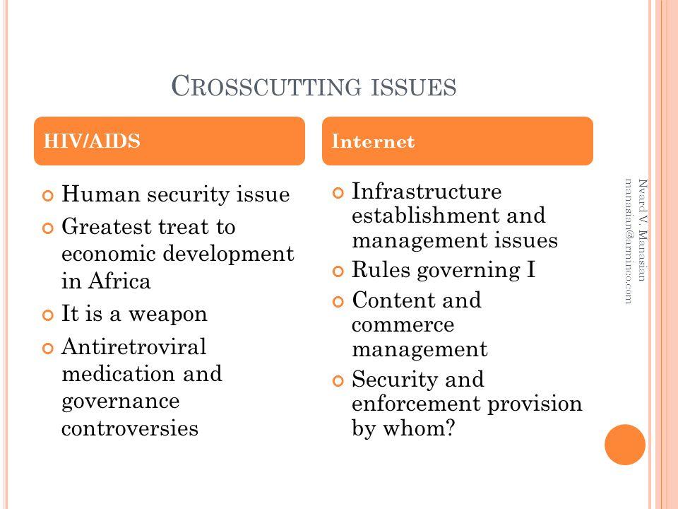 C ROSSCUTTING ISSUES Nvard V.