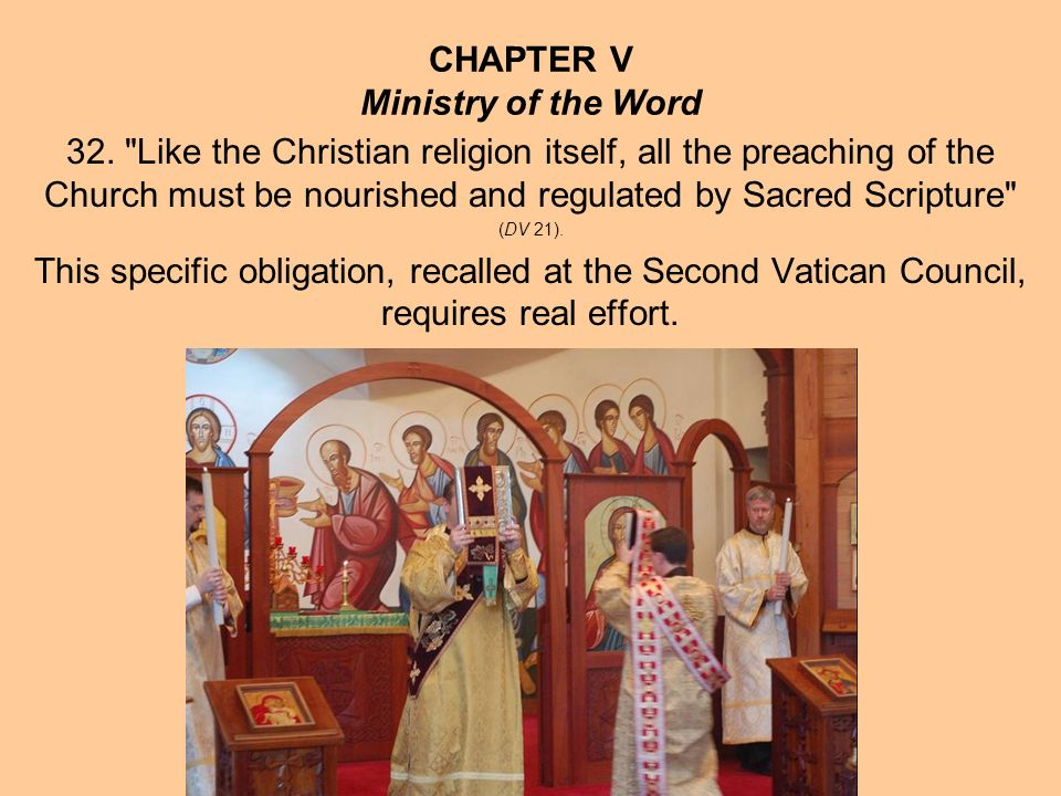 CHAPTER V The Word of God and the Eucharist 35.St.