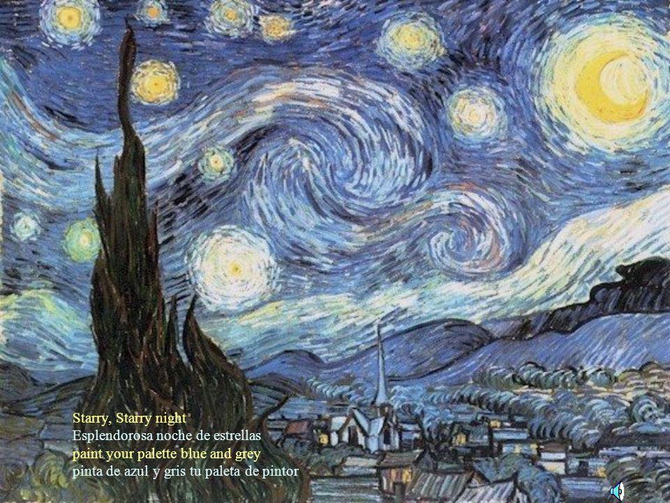 VANGOGH V I N C E N T (1853-1890) Enjoy the pictures with the music and lyrics. Disfruta de sus pinturas escuchando el tema dedicado a él. Slides will