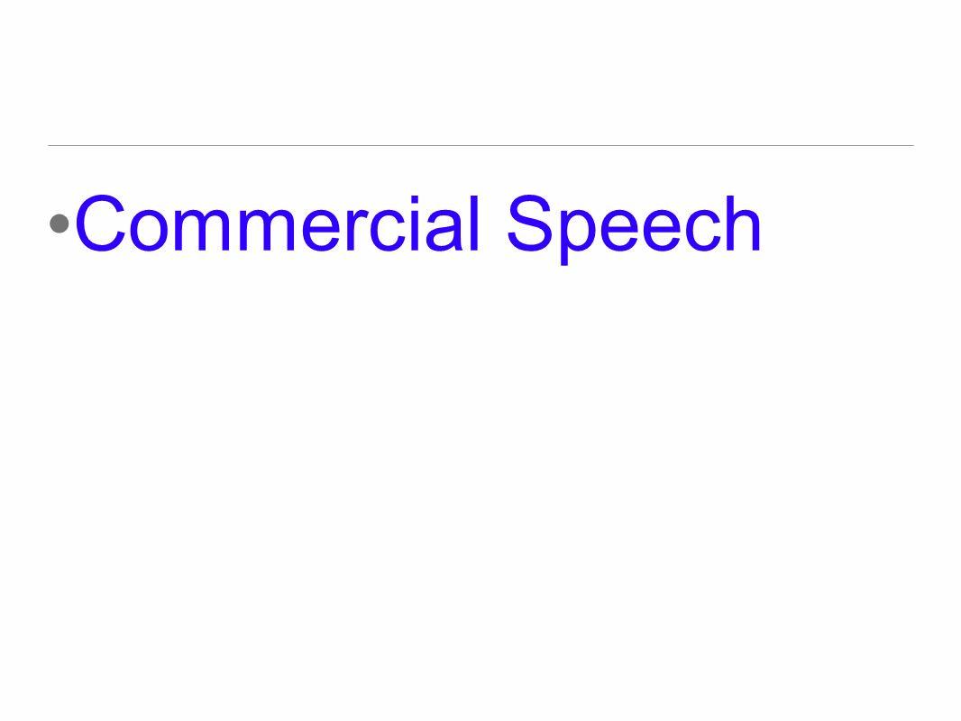 Commercial Speech