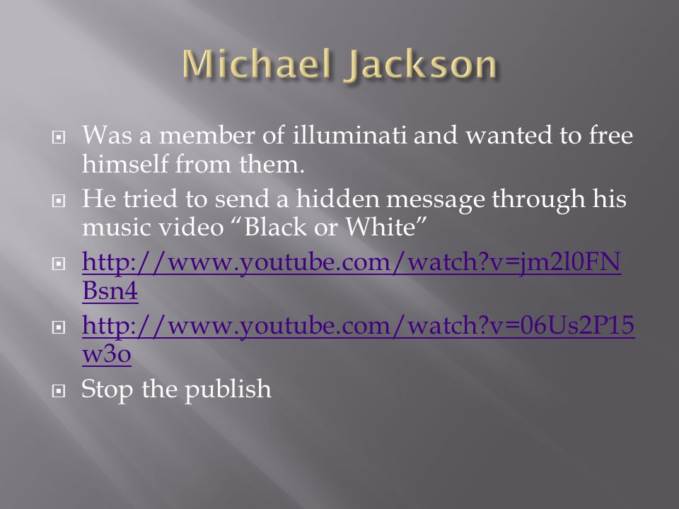 Was a member of illuminati and wanted to free himself from them.