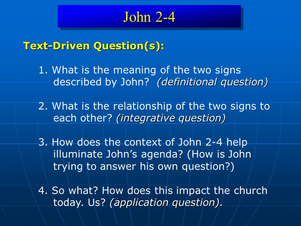 John 2-4 Conclusion 3 Conclusion 3: It seems that John is defining faith as a growth experience.