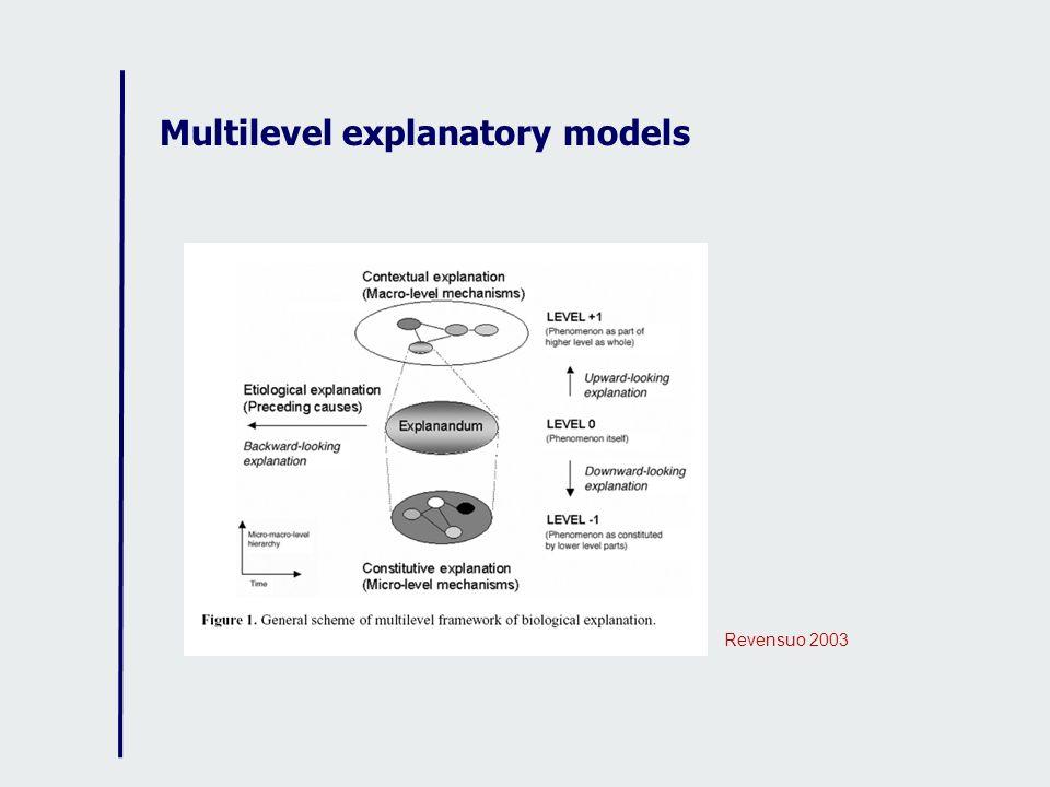 Multilevel explanatory models Revensuo 2003