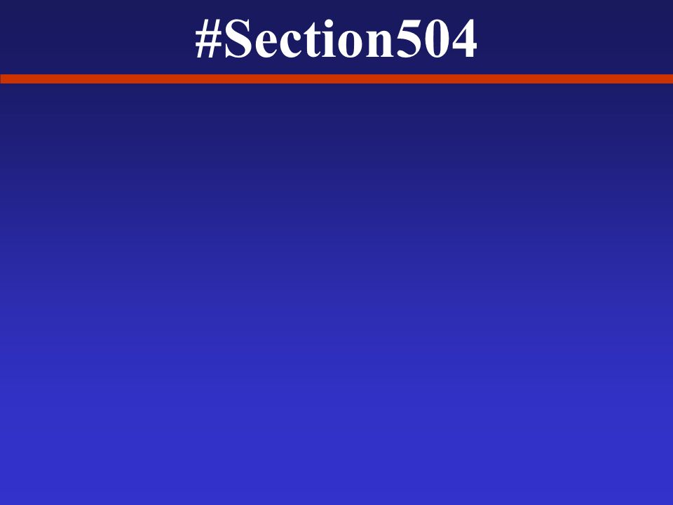 #Section504