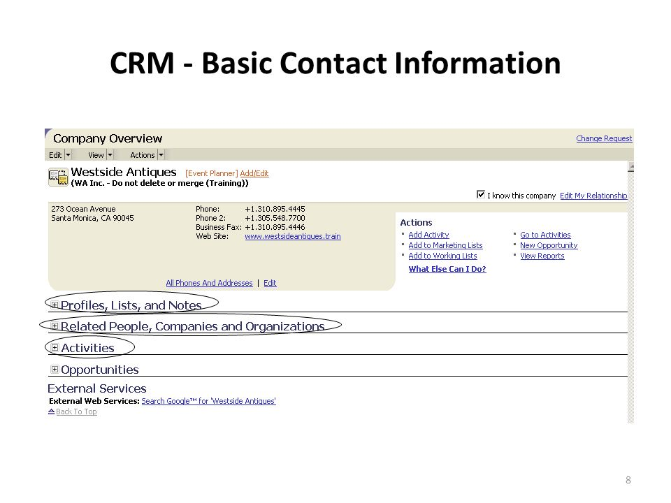 9 CRM - Relationships & Touch Points
