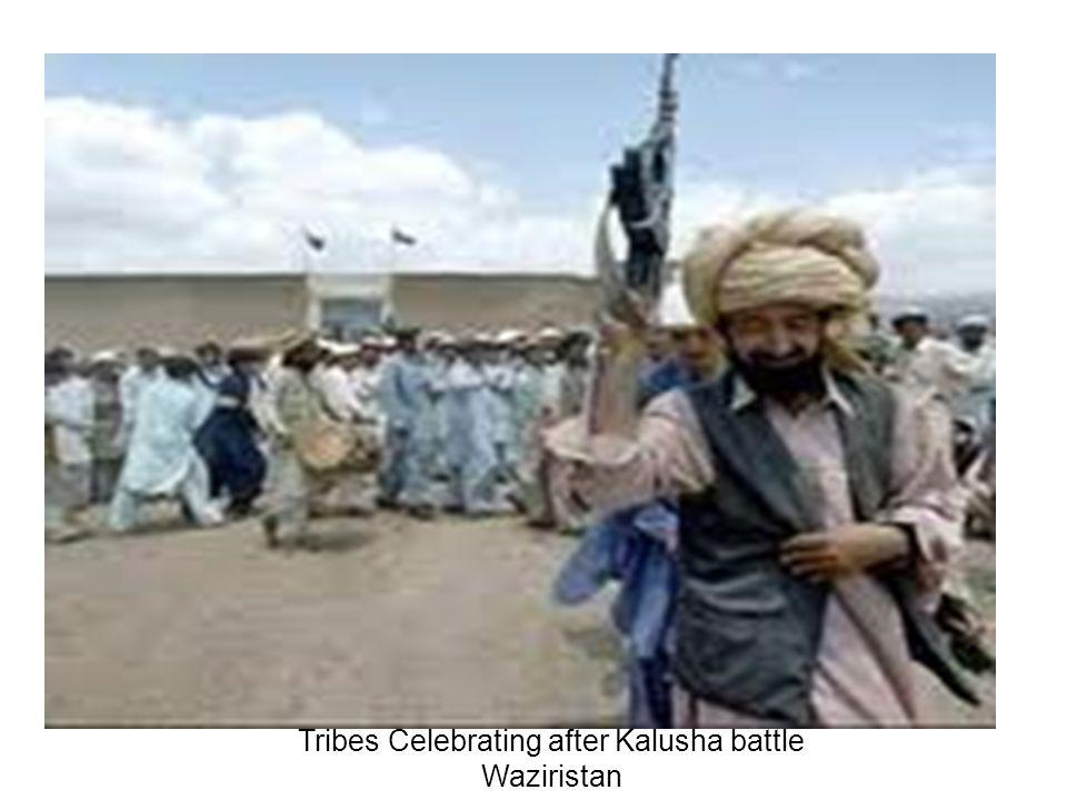 Tribes Celebrating after Kalusha battle Waziristan