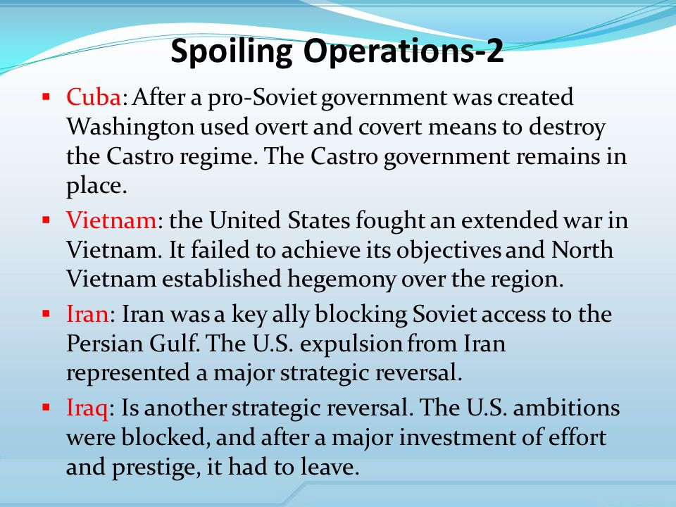 Spoiling Operations-2 Cuba: After a pro-Soviet government was created Washington used overt and covert means to destroy the Castro regime.