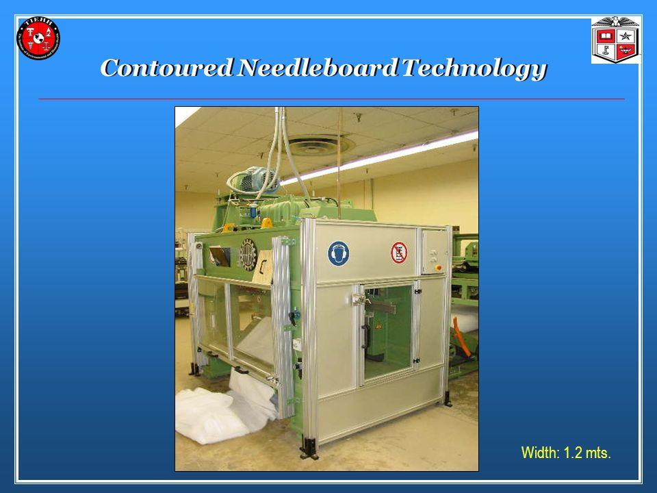 Contoured Needleboard Technology Width: 1.2 mts.