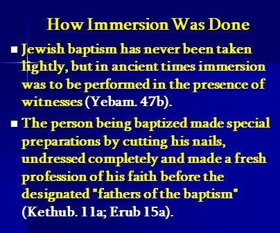 Repentance Without Baptism (Yebamos 47b).