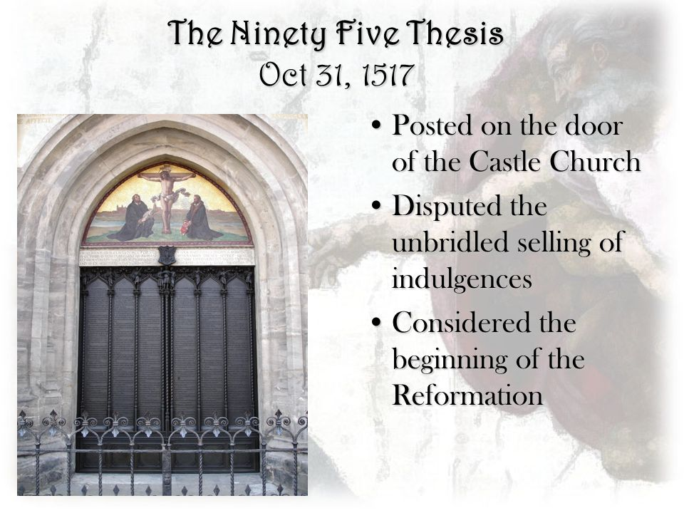 the ninety-five thesis