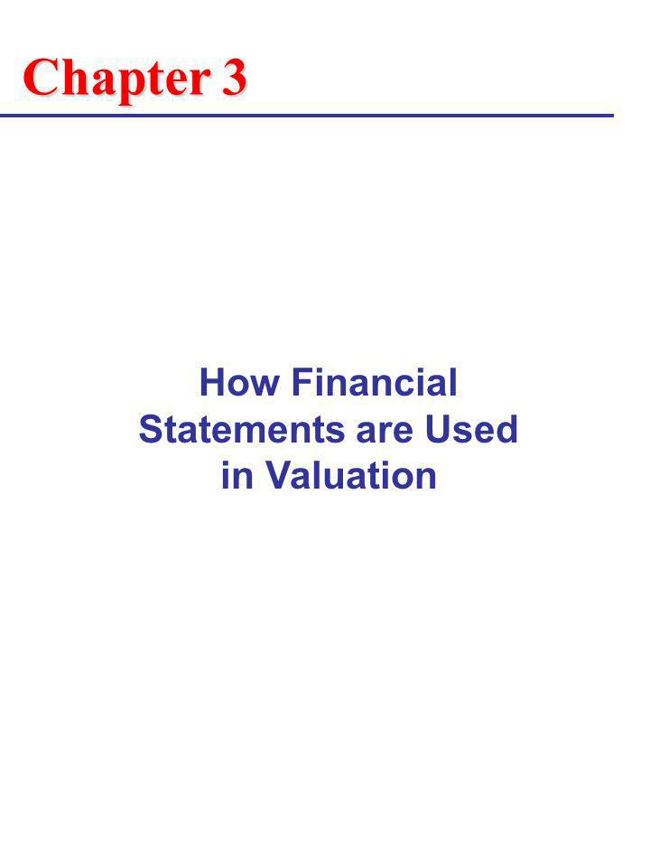 Chapter 3 How Financial Statements are Used in Valuation