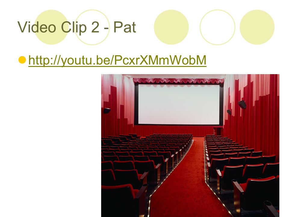 Video Clip 2 - Pat http://youtu.be/PcxrXMmWobM
