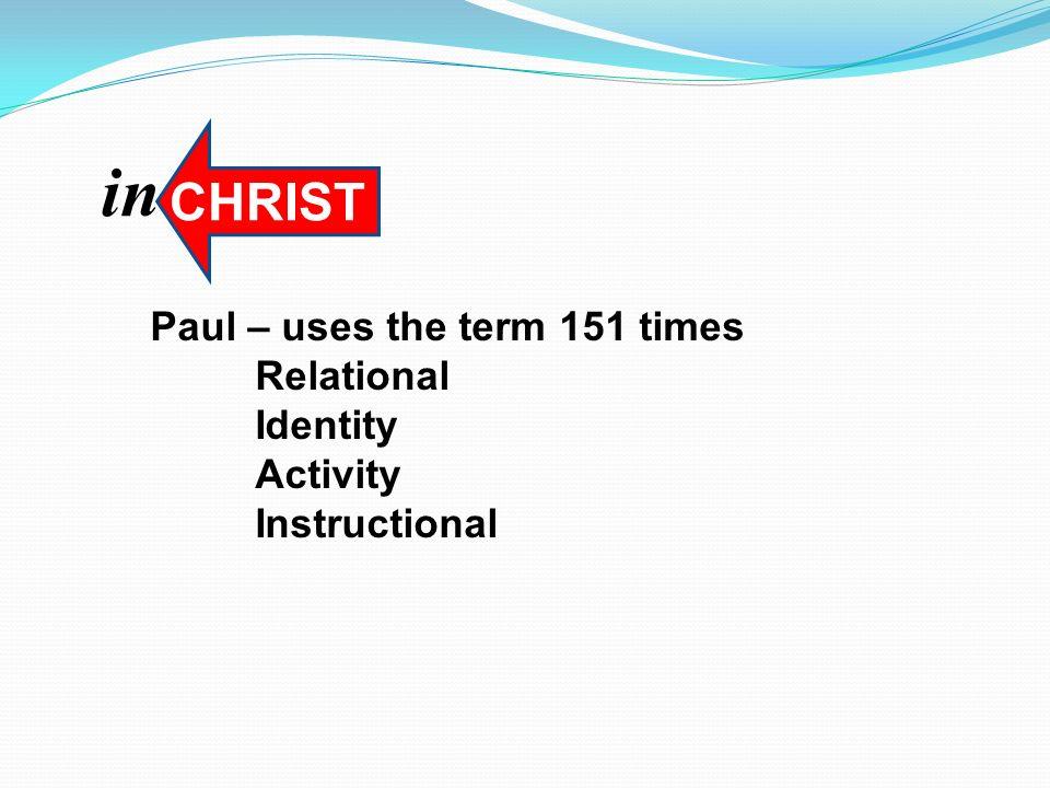 John 15 remain in Me Relational (v.4, John 17:20-21) Identity (v.15) Activity (v.7, 16) Instructional (v.8, 10, 17) in CHRIST