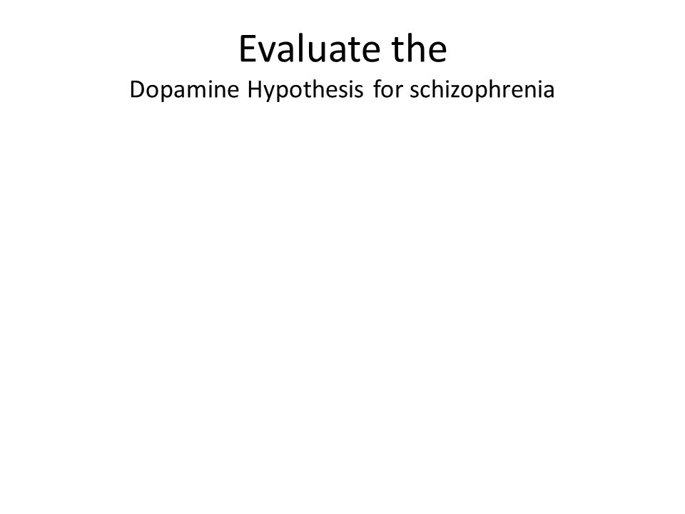 Aim: to see whether schizophrenia-like symptoms could be induce in non-human animals by giving them amphetamines.
