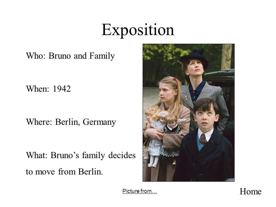 Exposition Home Who: Bruno and Family When: 1942 Where: Berlin, Germany What: Brunos family decides to move from Berlin. Picture from…