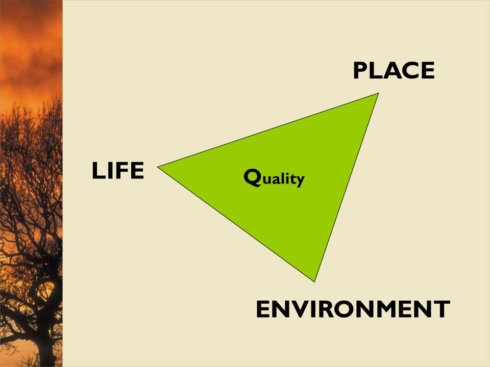 LIFE PLACE ENVIRONMENT Q uality