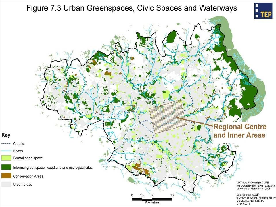 Growth-support functions of Green Infrastructure in GM 1.Flood risk management & climate change adaptation 2.Ecological framework 3.Sustainable movement (multi-user routes) 4.Sense of place 5.River & canal corridor management 6.Positive image & setting for growth 7.Supporting urban regeneration 8.Supporting communities, health and enjoyment