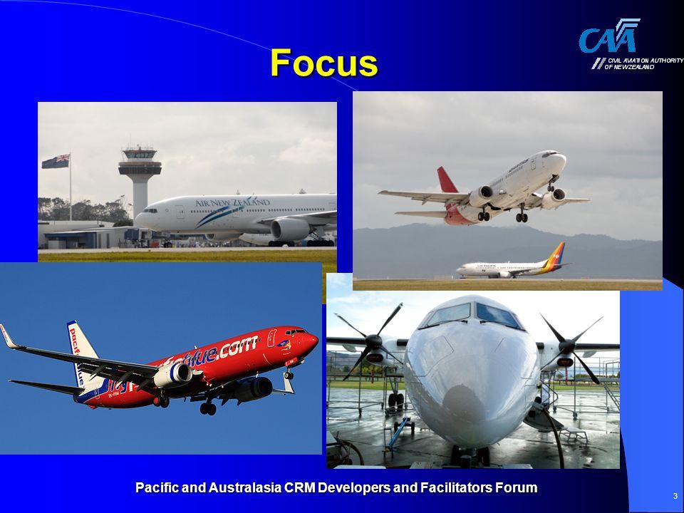 Pacific and Australasia CRM Developers and Facilitators Forum 3 Focus