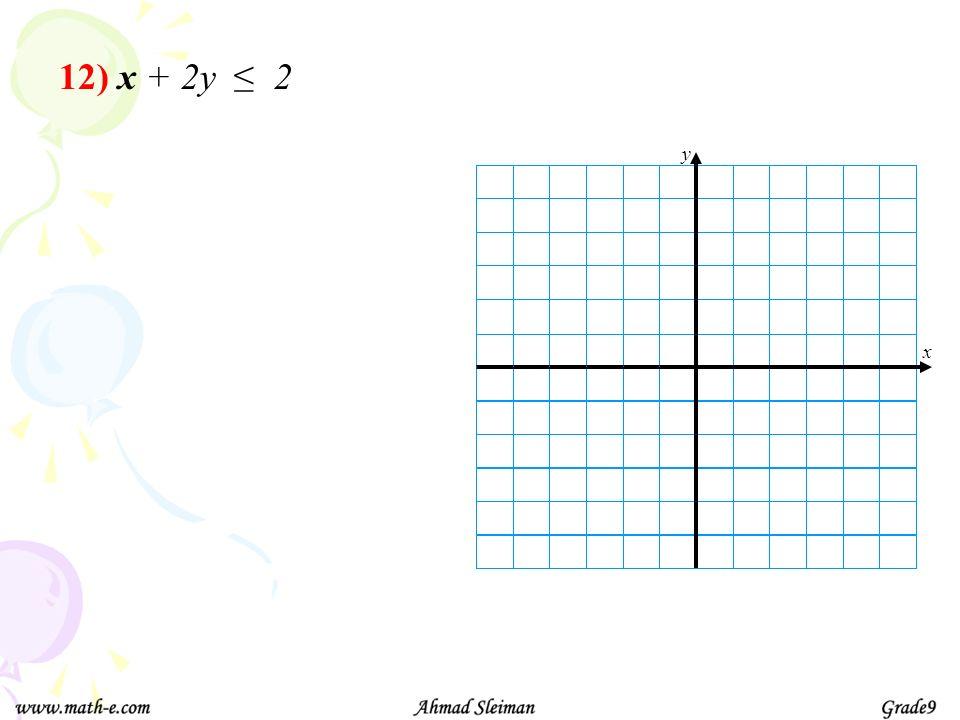 12) x + 2y 2