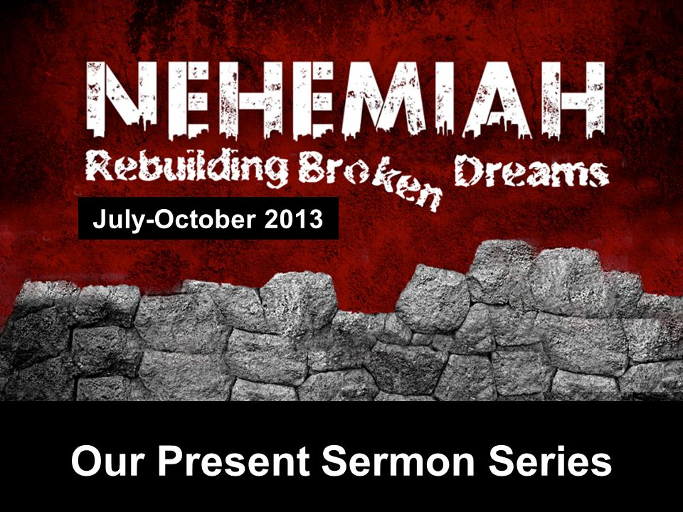 Our Present Sermon Series July-October 2013
