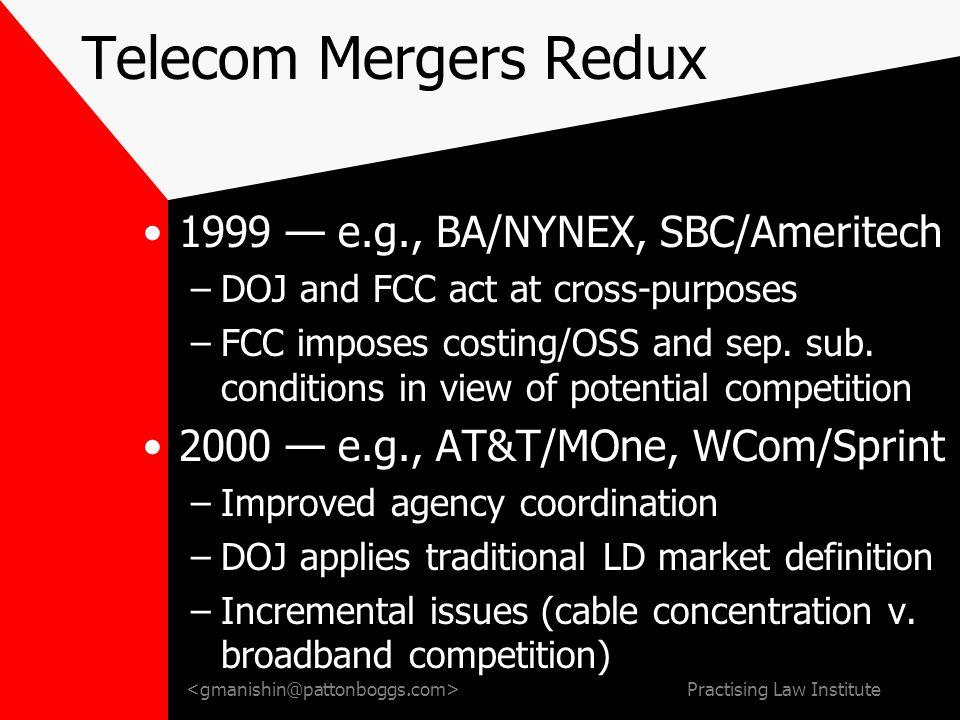 Convergence Mergers: Wheres the Relevant Market. Glenn B.